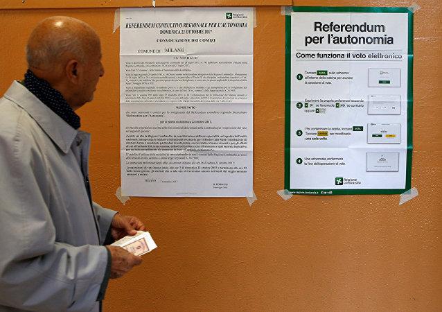 El referéndum de autonomía en Lombardía, Italia