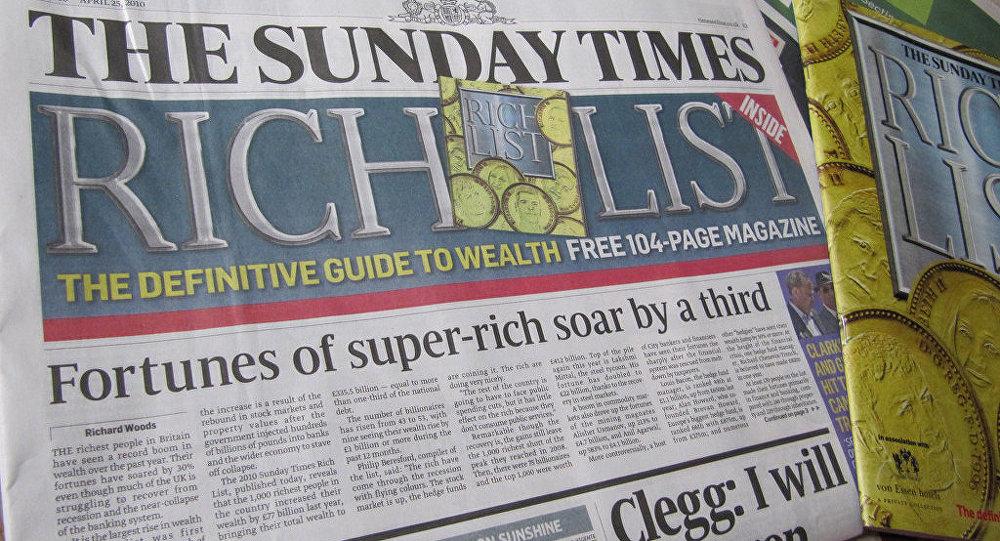 El periódico Sunday Times