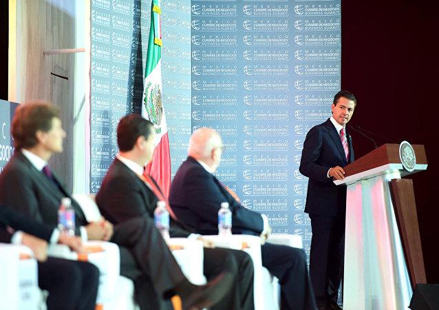 El presidente de México, Enrique Peña Nieto, participa en la XV Edición de México Cumbre de Negocios