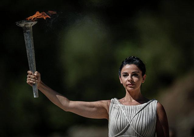 Encendido de llama olímpica