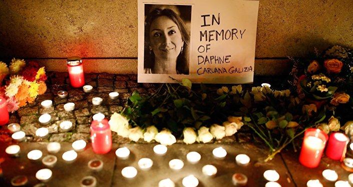 Homenaje a la periodista asesinada Daphne Caruana Galizia