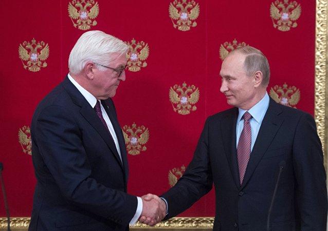 El presidente de Alemania, Frank-Walter Steinmeier, y el presidente de Rusia, Vladímir Putin
