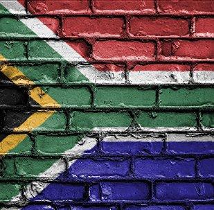 La bandera de Sudáfrica