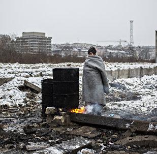 «Migrantes en Belgrado» de Alejandro Martínez Vélez