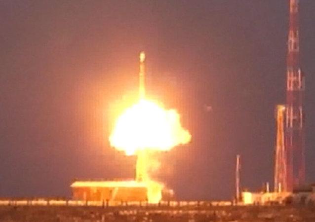 Prueba del misil ruso Topol