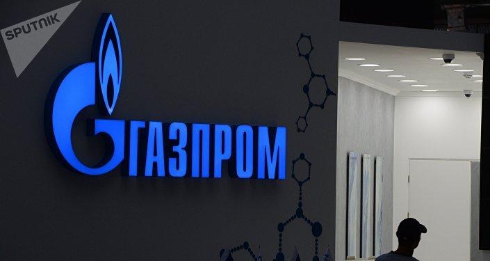 El logo de Gazprom