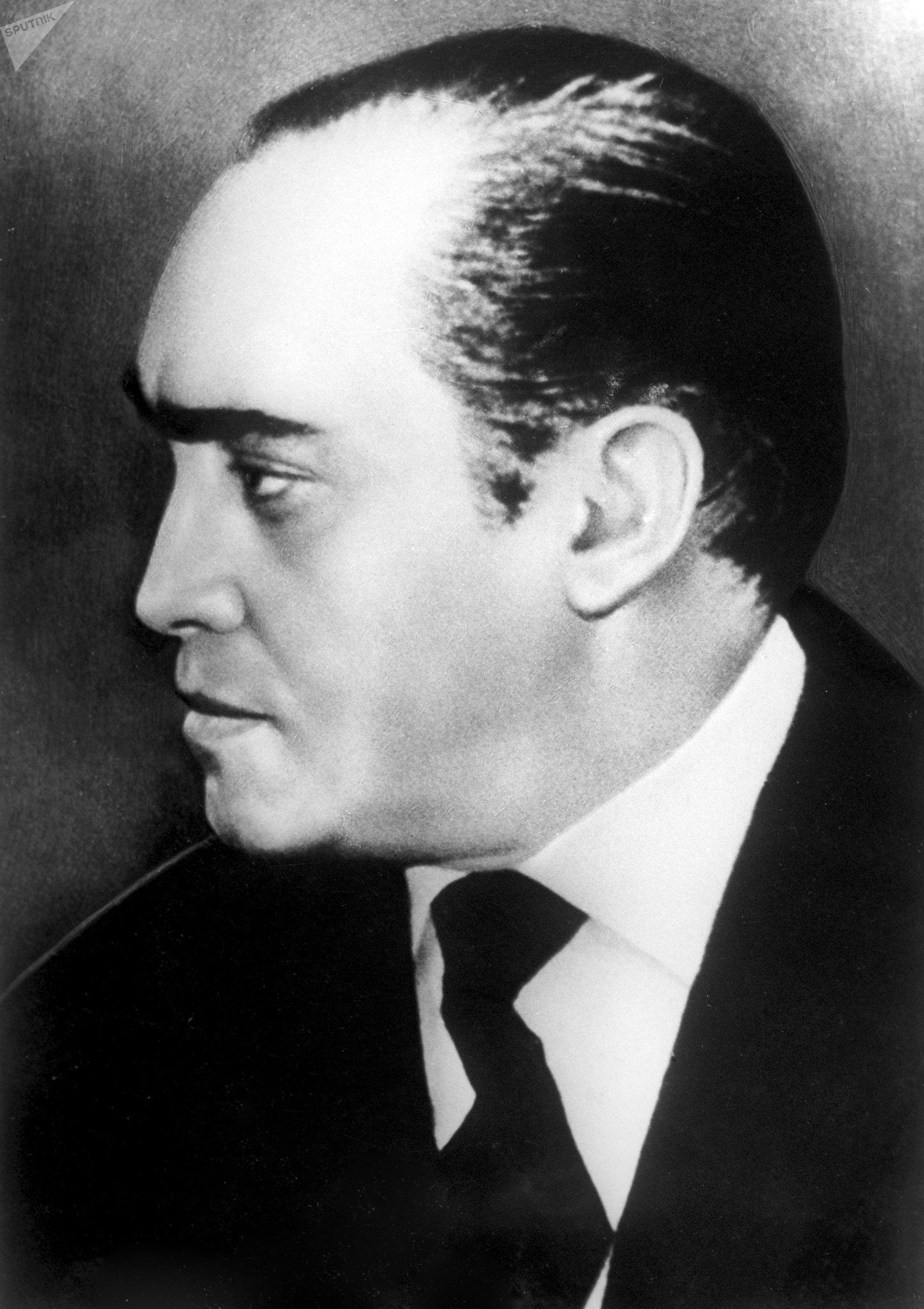 El arquitecto brasileño Oscar Niemeyer durante entrega del Premio Lenin de la Paz en 1963 en Moscú