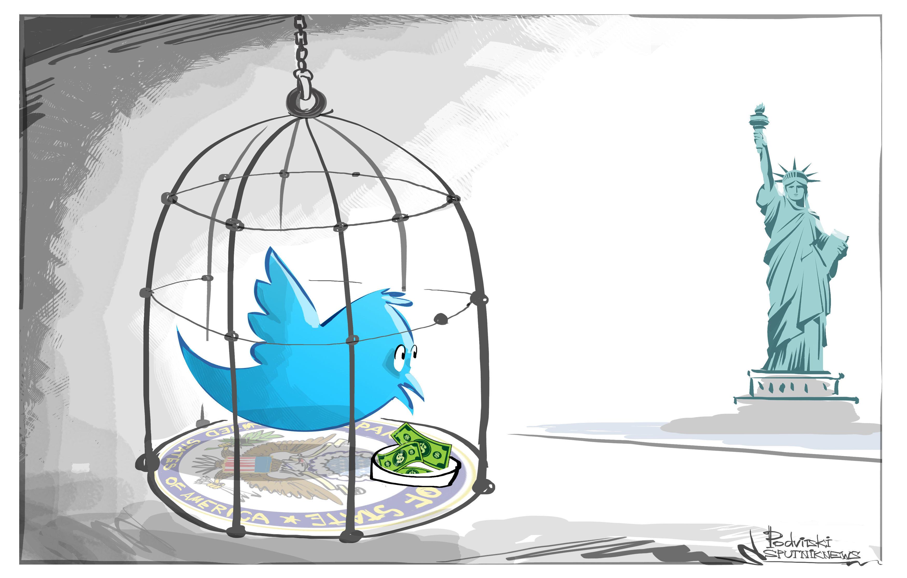 Así es como la censura estadounidense enjaula a Twitter