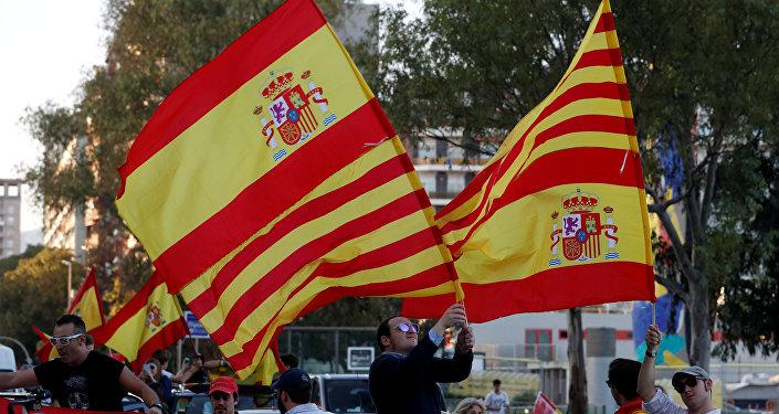 Partidarios de la independencia de Cataluña en Barcelona (archivo)
