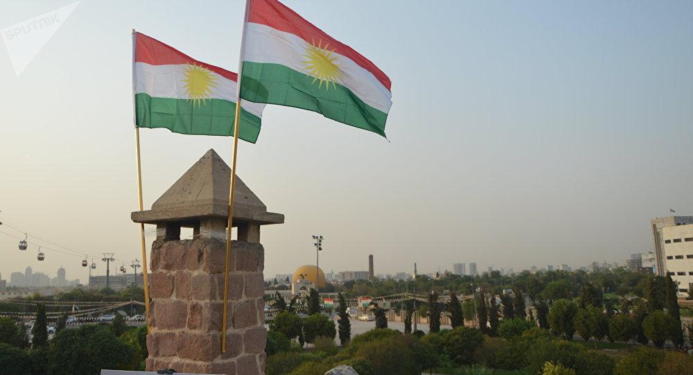 Las banderas del Kurdistán iraquí (archivo)