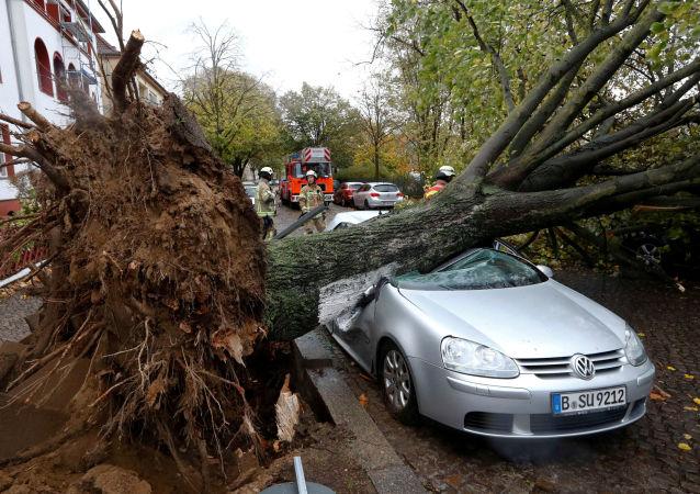Los efectos de la tormenta Herwart en Europa