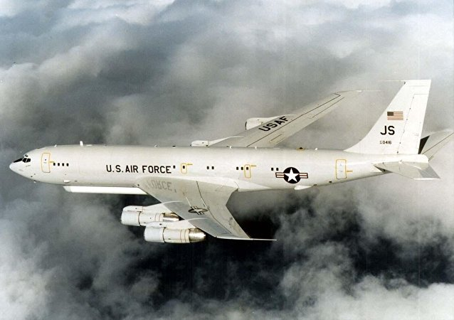 Un avión militar estadounidense Grumman E-8 Joint STARS (archivo)