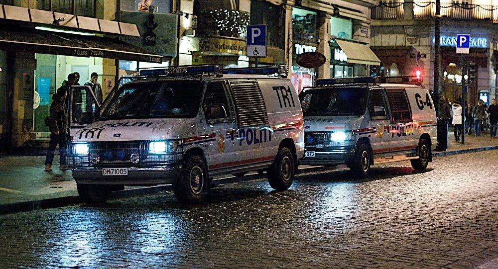 Policía en Oslo, Noruega