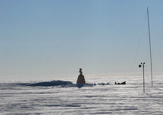 El busto de Vladímir Lenin en el Polo Sur de Inaccesibilidad
