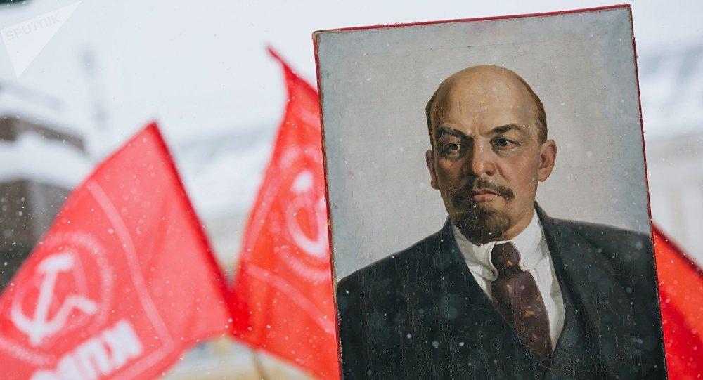 Retrato de Vladímir Lenin, líder de la Revolución rusa (archivo)