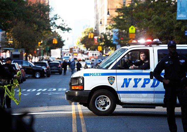 La policía en el lugar del atropello en Nueva York (archivo)
