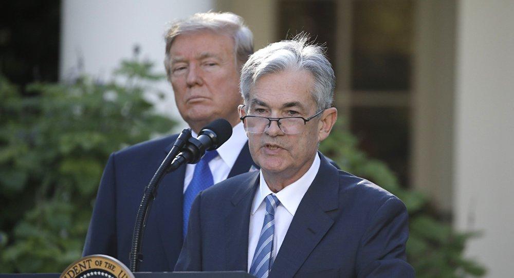 Presidente de EEUU, Donald Trump, y próximo presidente de la Reserva Federal, Jerome Powell