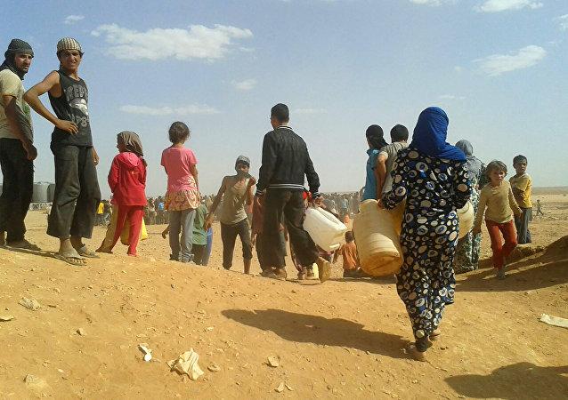 Los refugiados del campo Rukban, Siria (archivo)