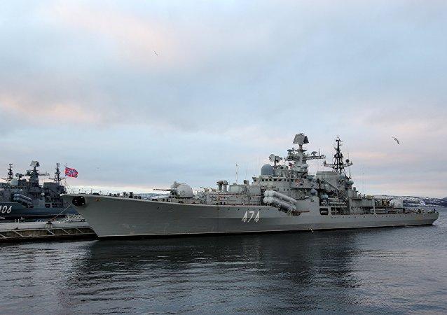 El destructor Almirante Ushakov de la Flota rusa del Norte