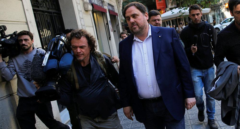 Oriol Junqueras, el vicepresidente cesado de Cataluña