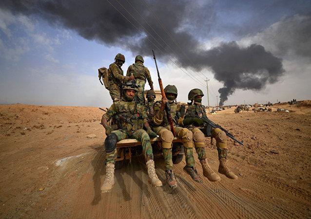Fuerzas iraquíes en Al Qaim