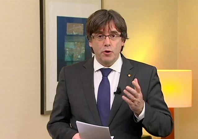 Carles Puigdemont,  expresidente del Gobierno de Cataluña