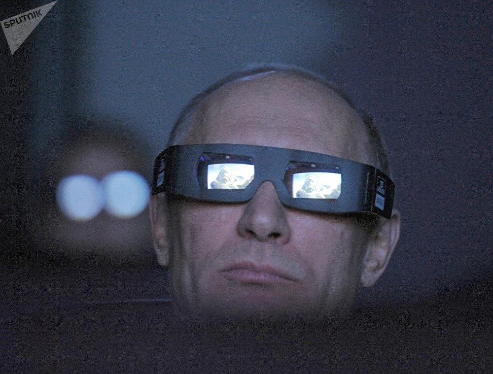 Vladímir Putin en el planetario de Moscú en 2012