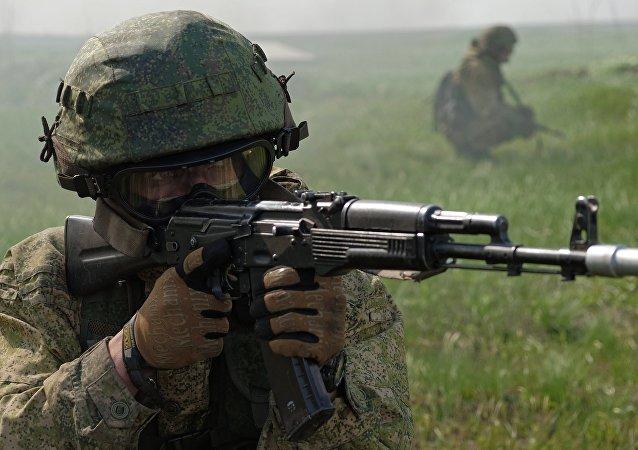 Militar de las Fuerzas Especiales rusas (archivo)
