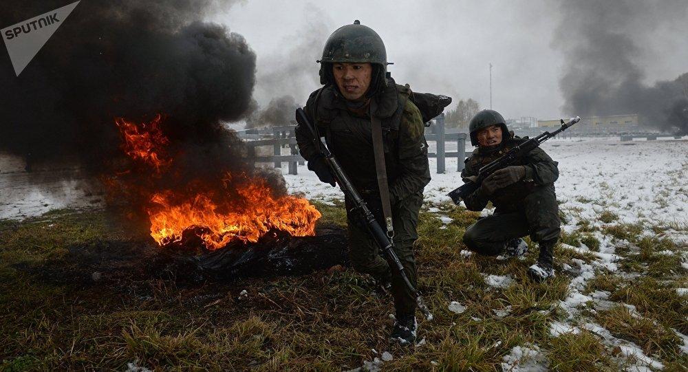 Los soldados de las divisiones especiales del Servicio Federal de la Guardia Nacional de Rusia