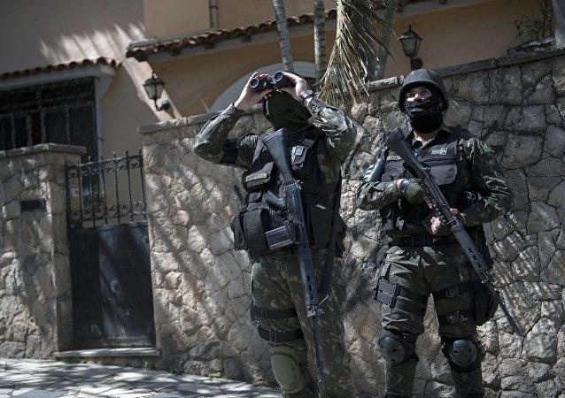 Los agentes de seguridad de Brasil (archivo)