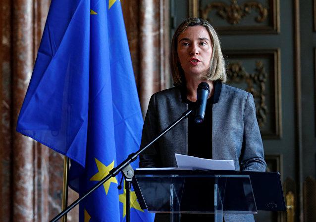 Federica Mogherini, la alta representante de la Unión Europea para Asuntos Exteriores y Política de Seguridad