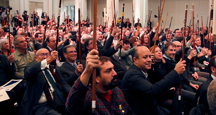 Alcaldes de Cataluña en Bruselas