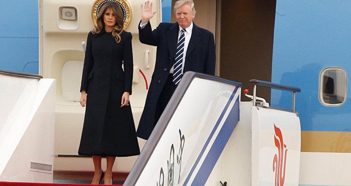 Donald Trump, el presidente de EEUU, inicia su visita oficial a China