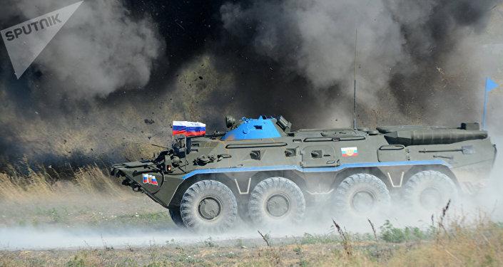 Un carro blindado del Ejército de Rusia (archivo)