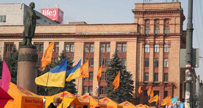 Un monumento de Lenin en Ucrania (imagen ilustrativa)