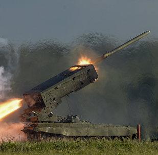El sistema ruso TOS-1A Solntsepiok