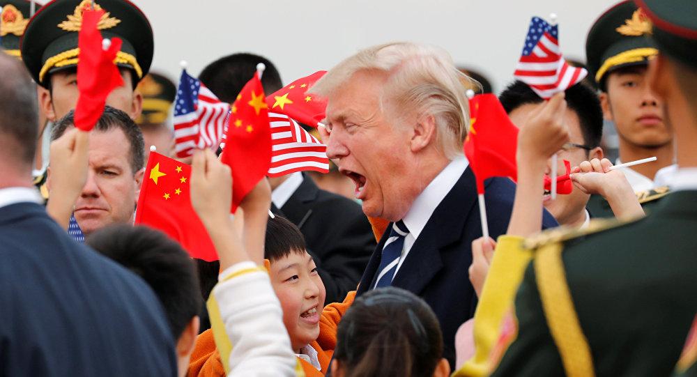 Donald Trump, presidente de EEUU, llega a China