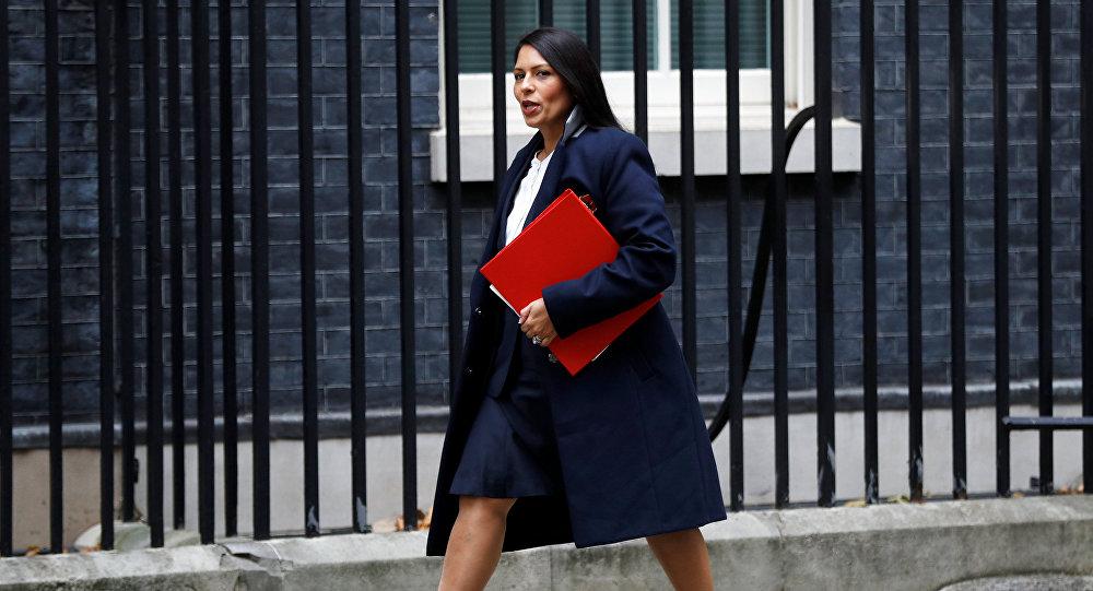 Priti Patel, exministra de Desarrollo Internacional de Reino Unido
