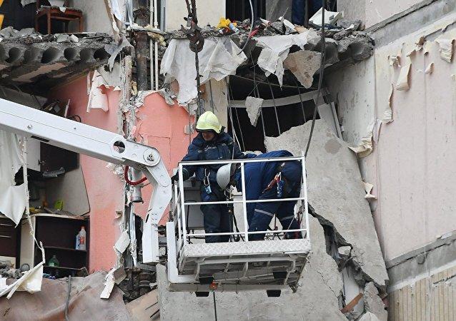 El servicio de Emergencias ruso en el lugar del derrumbe