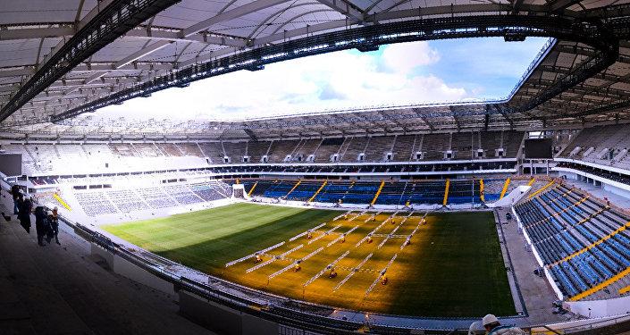 El estadio Rostov Arena, justo antes de abrir sus puertas al público