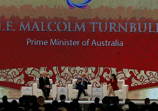 Malcolm Turnbull, el primer ministro de Australia durante la cumbre de la APEC