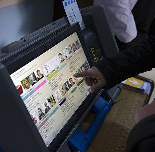 Máquina de voto electrónico en Argentina (archivo)