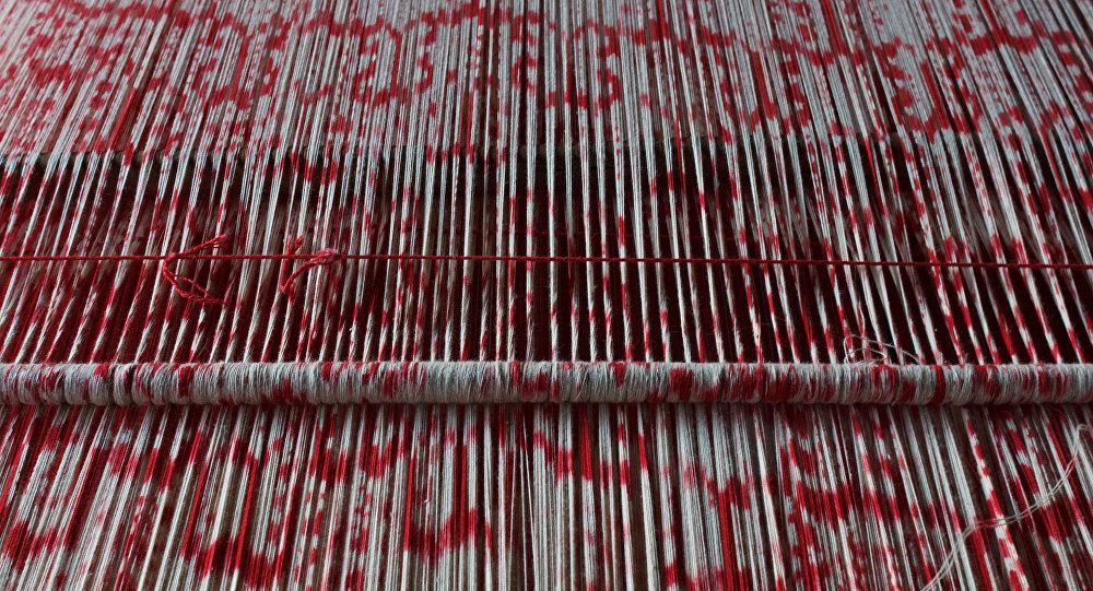 Taller de elaboración y tejido de macanas ikat en El Carmen, Chordeleg