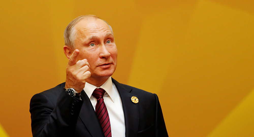 Vladímir Putin, presidente de Rusia, llega a la primera reunión de trabajo de los líderes de la APEC