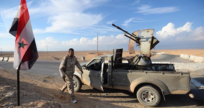 Combatientes del Hizbulá en Siria