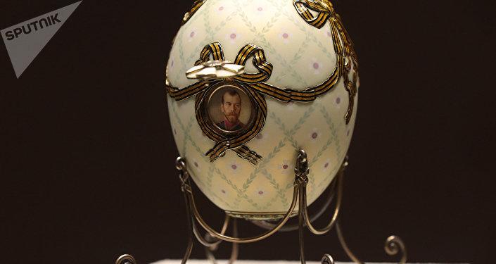 Huevo de la Cruz de San Jorge, el taller de joyería de Fabergé