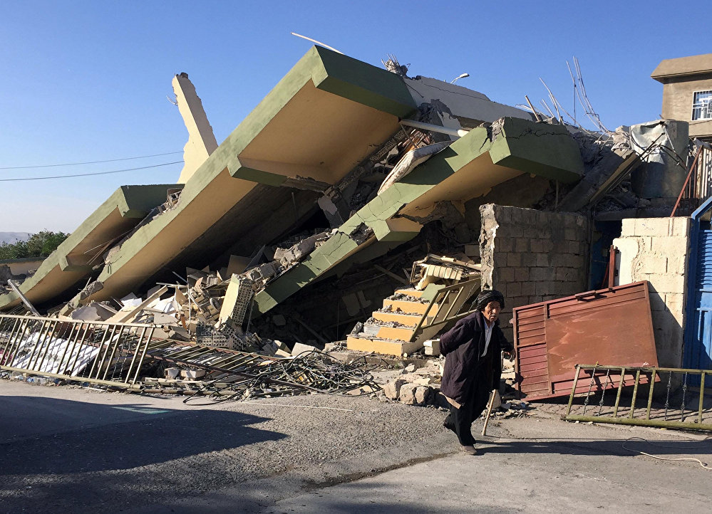 Los estragos del devastador terremoto en la frontera entre Irán e Irak