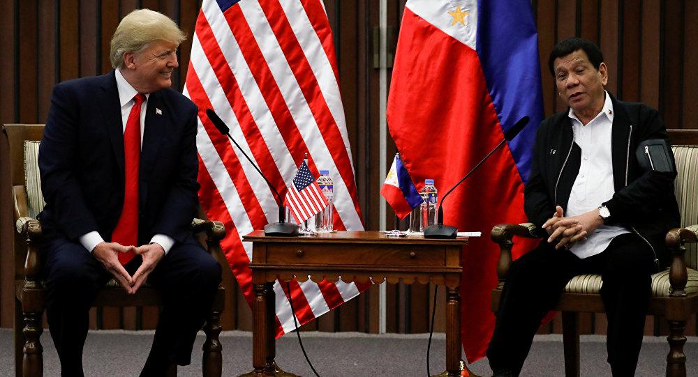 El presidente de EEUU, Donald Trump, y el presidente de Filipinas, Rodrigo Duterte