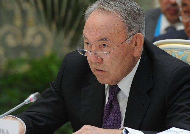 Nursultán Nazarbáev, presidente de Kazajistán (archivo)
