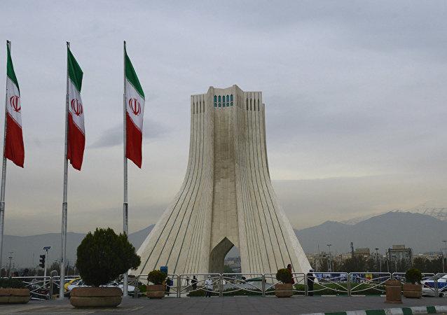 Banderas de Irán en Teherán